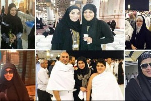 فنانات مشهورات بدون مكياج وبالحجاب أثناء تأدية فريضة العمرة أو الحج