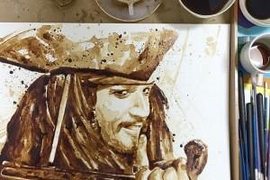 فن وإبداع برسومات فنية مدهشة بإستخدام القهوة فقط