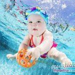 كيف يكون شكل الاطفال الرضع تحت الماء – صور