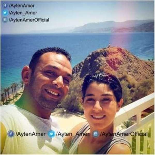ايتن عامر وزوجها من شهر العسل 2