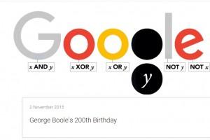 شعار جوجل يحتفل بالمولد المئتان لعالم الرياضيات جورج بول