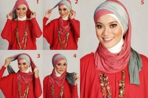 بالصور … تعلمي كيفية لف الحجاب بطرق جذابة وسهلة 2015-2016
