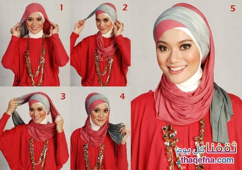 4a82c91b0e6dd بالصور … تعلمي كيفية لف الحجاب بطرق جذابة وسهلة 2015-2016 – ثقفنا كل يوم