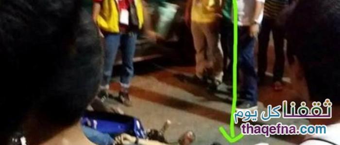 لقطات مرعبة لـ«عفريت رجل» ينظر إلى جثته!!