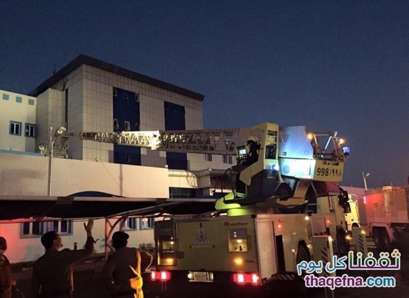 حريق مستشفى جازان العام 3