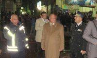 سقوط برج كهرباء السلام – شاهدوا بالصور مدير أمن القاهرة يتفحص المكان ويشغل غرفة عمليات للمتابعة في ملابسات الحادث