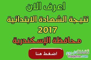 نتيجة الشهادة الابتدائية الاسكندرية 2017 برقم الجلوس الصف السادس الابتدائي الترم الأول