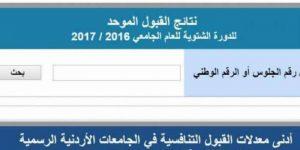 نتائج القبول الموحد 2017 بالجامعات الأردنية