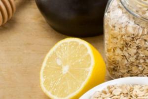 الحصول على بشرة خالية من العيوب مع خلطة الشوفان مع الليمون وتنظيف البشرة