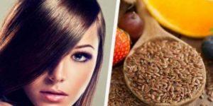 بذور الكتان لتحفيز نمو الشعر