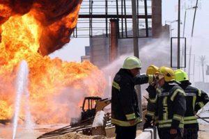 انفجار خط غاز التجمع الخامس ووقوع 10 إصابات 3 منها حرجة بالفيديو