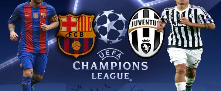 برشلونة الأسباني يلاقى فريق يوفنتوس الإيطالي فى إياب دور ربع النهائي فى دوري أبطال أوروبا