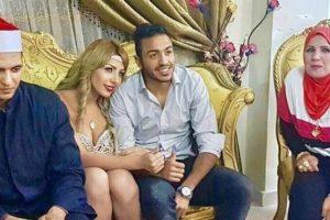 سارة خليفة تثير جدلاً واسعاً على مواقع التواصل الإجتماعي بعد نشر صور زواجها من محمود كهربا