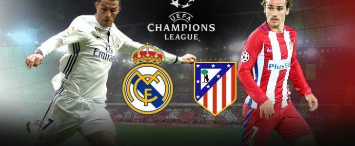 موعد مباراة فريق ريال مدريد الإسباني وفريق أتليتكو مدريد الإسباني اليوم الإربعاء في تمام الساعة التاسعة إلا ربع مساءا