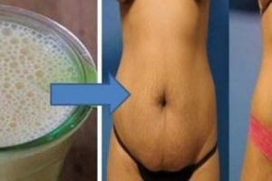 سيدة تخلصت من دهون البطن خلال 10 أيام باستخدام خلطة سحرية بسيطة ونتائج سريعة !