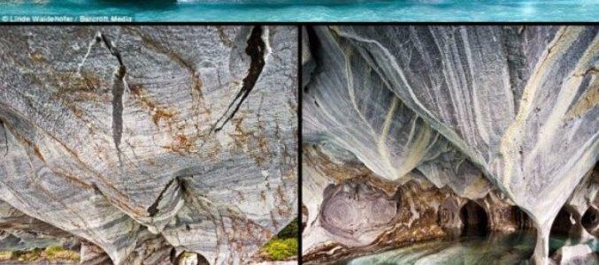شاهدوا بالصور أجمل كهف في العالم في بحيرة جنرال كاريرا في أمريكا الجنوبية !