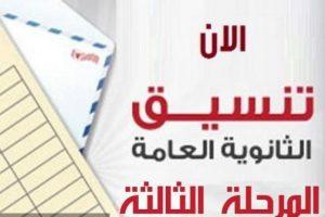 تنسيق المرحلة الثالثة 2017 للثانوية العامة بحد أدنى 50% ورابط بوابة الحكومة المصرية !