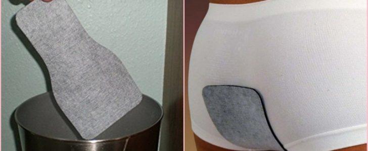 """لاصقة تغير رائحة غازات البطن الى رائحة النعناع توضع على الملابس الداخلية """"الأندروير"""" !"""