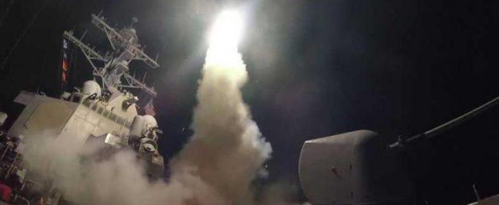 شاهدوا بالفيديو بدء الحرب الأمريكية على سوريا – حرب ترامب على سوريا